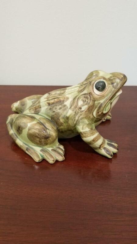 "Vintage Brush McCoy Pottery 8"" Garden Frog"
