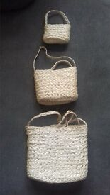 wicker craft small bags