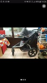 Britax Bob Revolution SE All Terrain Buggy with rain and insect covers