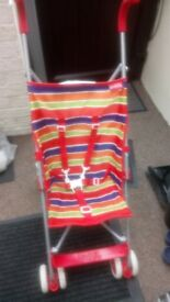 Pushchair suitable for child over six months good condition