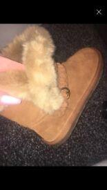 NEW next tan colour boots size 3