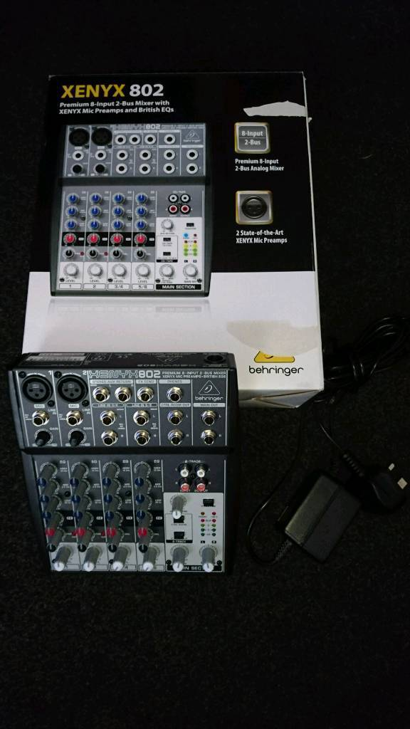 behringer xenyx 802 mixer in sale manchester gumtree. Black Bedroom Furniture Sets. Home Design Ideas