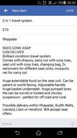 Brilliant condition travel system