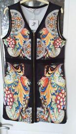 Ladies zip front dress.