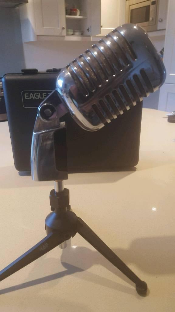 EAGLE G148 VINTAGE RETRO STYLE DYNAMIC MICROPHONE - Studio, Stage, Live, Vocal, Instrument