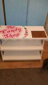 Large table candy cart