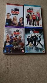 The big bang theory boxsets 1,2,3 & 4