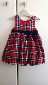 Baby Girl Dress (6 to 9 months) - Brand: Next - Red/Navy Blue Tartan – £4