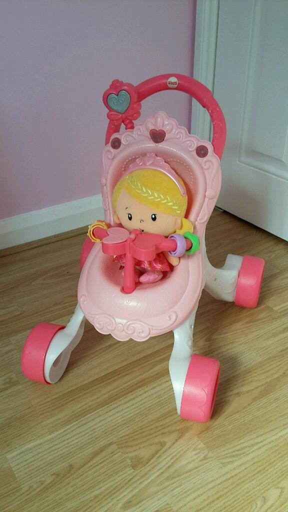Fisher Price musical pram with doll