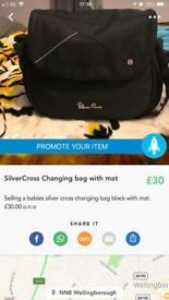 Silver Cross black changing bag