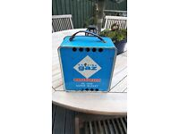 Vintage Camping Gaz Stove Deluxe Super Bleuet Retro/Festival/Camping + Tin Windbreak box