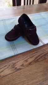 Boys Suede Loafers, Size 11, Dark Brown (M&S)
