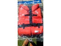 small typhoon life jackets 100N brand new
