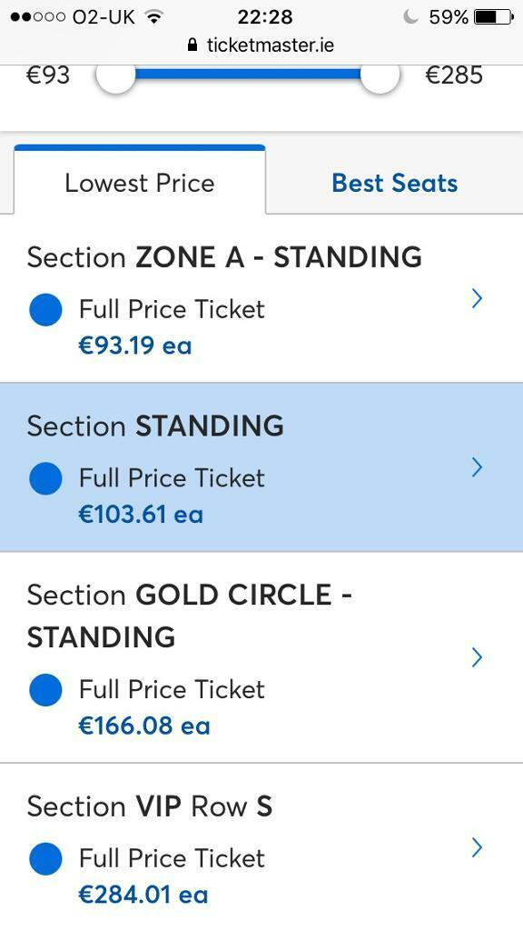 2x standing (NOT zone A) tickets for Slane 2019 Metallica Dromore co  Down  | in Dromore, County Down | Gumtree