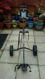 Light weight aluminium golf trolley excellent condition.