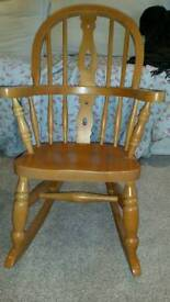 Solid pine children's rocking chairs