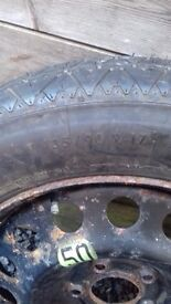 135/90/r17 spare wheel & tyre