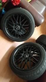 Calibre 18inch deep dish bmw wheels e36 1 series alloys 5×120