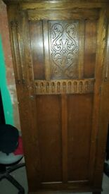 Solid wood wardrobe vintage