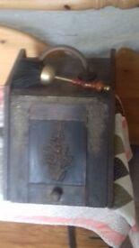 Vintage wooden coal scuttle