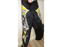 wulfsport race pants motocross motox quad yellow junior youth kids size 26 approx age 9-10