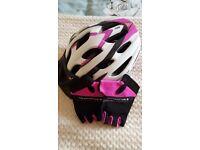 Ladies Ridge bicycle helmet and muddyfox gloves.