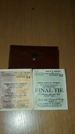 1961 and 1962 fa cup final tickets