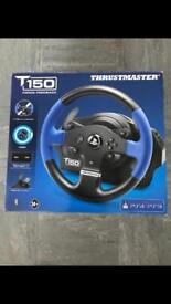 Thrustmaster t150 racing wheel with stand