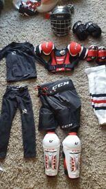 CCM full ice hockey kit 4-7years