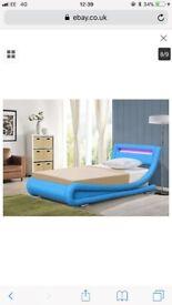 brand new 3ft single led light bed blue