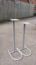 Sliver Metal Speaker Stands