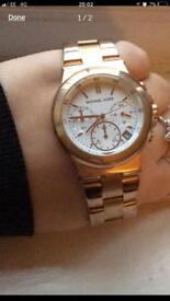 Genuine Michael kors rose gold watch
