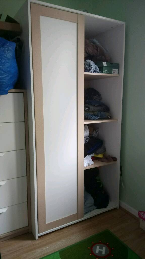 Ikea sniglar wardrobein St Helens, MerseysideGumtree - Ikea sniglar wardrobe for sale from smoke, pet free home. Item is less than a month old and is not open to offers. Dimensions are 162cm high x 81cm wide x 50cm depth. Has four shelves on the right side and 2 clothes rails on the left. Collection only...
