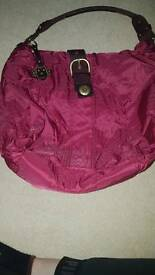 Berry coloured Kipling handbag