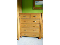 Large solid oak modern chunky chests of drawers 2 available (price is EACH) matching items available