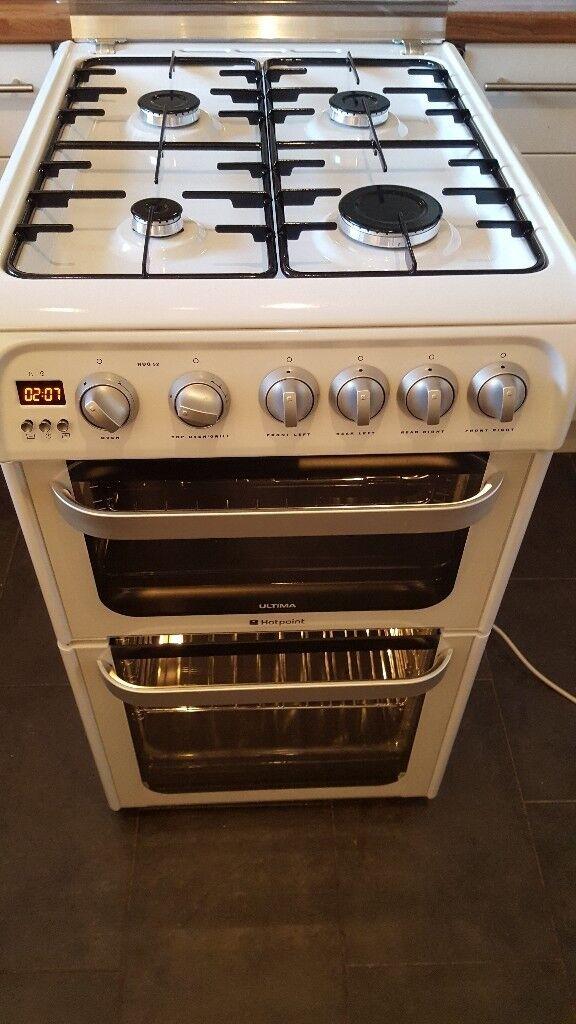 HOTPOINT HUG52P 50 cm Gas Cooker - White