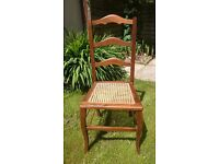 Cane seated bedroom chair