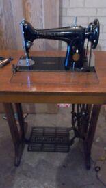 Sewing machine vintage antique treadle. Newcastle