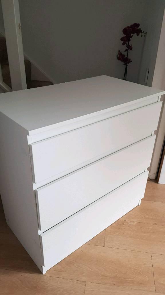 Ikea Kullen 3 Drawer Unit 70 X 72 Cm