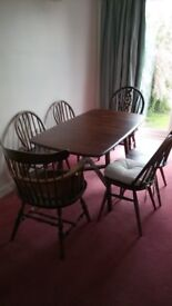 Ercol Table and chairs. In good condition. Offers invited