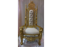 **** ONLY £149 FOR 2 THRONE CHAIRS HIRE****