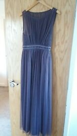 Size 10 Mauve dress from Debut Debenhams.