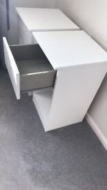 White and Grey gloss Cabinet