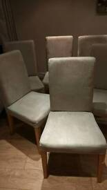 Set of 6 IKEA Henriksdal dining chairs