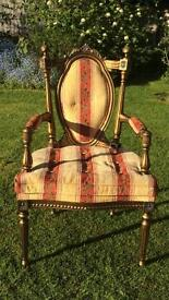 A set of-Indian south Asian Open Armchairs