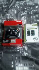 Brand New Xbox 360 Controller And Twin Rechargable Battery Packs