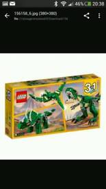 Lego creator 3 in 1 dinosaur