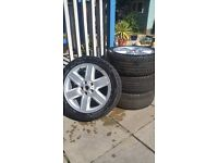 "19"" Range Rover Alloy Wheels can fit VW Transporter or Touareg etc. + Good Tyres"