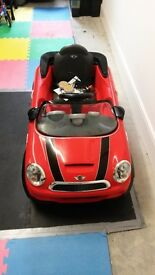 Red Mini Cooper Ride On with Remote Control