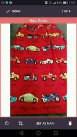 Boys NEXT bedroom curtains duvet cover x2 toy storage
